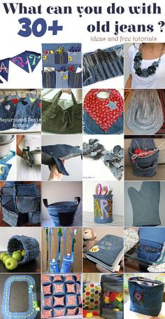 See here what can you do with old jeans ? 30  ideas and tutorials @ allhomeideas.net