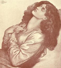 Dante Gabriel Rossetti - Study for Beatrice Dante Alighieri, John Everett Millais, Dante Gabriel Rossetti, Pre Raphaelite Brotherhood, Portraits, Mystique, Traditional Art, Art Blog, Poet