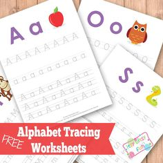 Tracing Worksheets - Pre-Writing Practice, Letters of The Alphabet, Numbers and More - Itsy Bitsy Fun Learning Games For Kids, Learning Letters, Preschool Learning, Preschool Activities, Preschool Letters, Alphabet Tracing Worksheets, Tracing Letters, Abc Tracing, Tracing Sheets
