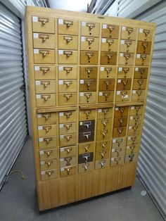 Library Card Catalog File Cabinet.  I want this so bad it hurts
