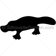 Platypus silhouette clip art. Download free versions of the image in EPS, JPG, PDF, PNG, and SVG formats at http://silhouettegarden.com/download/platypus-silhouette/