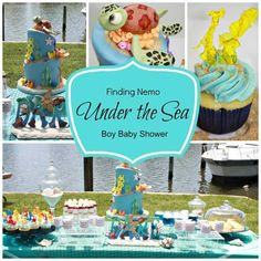 Under the Sea Boy Baby Shower - The Finding Nemo cake is amazing!!!! - www.spaceshipsandlaserbeams.com