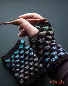 Color Changing Fingerless Gloves -- free pattern.  See also:  coordinating patterns for  Color Changing slouch hat and crochet cowl.