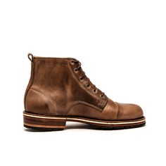 Helm Booys Railroad Blucher Boot. This boot is handcrafted in Maine from US-sourced leathers and materials and was designed in Austin based on turn-of-the-century historic railroad worker boots.