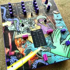 """This Vestax Mixer With Images From DJ Q-Bert's 'Wave Twisters"""" Is Fresh!!!. #HipHop #HipHopCulture #HipHopElements #HipHopJunkie #Vestax #Mixer #VestaxMixer #WaveTwisters #QBert #DJ #Turntablism #StreetArt #StreetCulture #StreetMusic by klass_one http://ift.tt/1HNGVsC"""