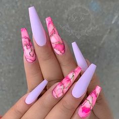In search for some nail designs and some ideas for your nails? Here's our listing of must-try coffin acrylic nails for trendy women. Nail Design Glitter, Cute Acrylic Nail Designs, Long Nail Designs, Beautiful Nail Designs, Nail Art Designs, Coffin Nails Designs Summer, Marble Nail Designs, Coffin Nail Designs, Stiletto Nails Glitter