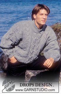 DROPS genser i Alaska med Perlefletter ~ DROPS Design