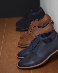 """Black, tan or navy? PU Brogues £14/€16 @Primark.MAN #Primark #menswear #shoes"""