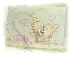 5 x 7 Matting Basics A #6, Classic Heart #3 & #6,  Wings of Hope, and Dainty Dots M-Bossabilities  by Spellbinder dies