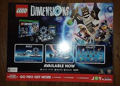 """2015 LEGO DIMENSIONS PROMOTIONAL POSTERBOARD 24"""" LENGTH  15"""" HEIGHT #Nintendo"""