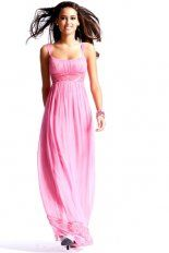 Pink Column Square Neckline Low Back Ankle Length Evening Dresses With Lace