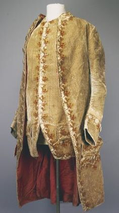 George Washington- velvet and silk ensemble made between 1760 - 1770 in England.  In 2001 it was estimated to be valued between $300,000 to $500,000.