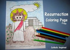 Resurrection of Jesus - Lego / Playmobil - Download Free Coloring Page