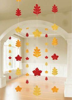 Colors of Fall Thanksgiving Party Autumn Leaves String Decoration, Foil, Pack of 6 Autumn Crafts, Fall Crafts For Kids, Autumn Art, Thanksgiving Crafts, Thanksgiving Decorations, Seasonal Decor, Autumn Leaves, Holiday Crafts, Fun Crafts
