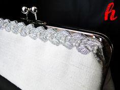 """Hochzeit - Clutch """"Glamour"""" - ein Designerstück von habseligkeiten bei DaWanda"""