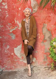 Love this look- Gabriela Rickli-Gerster (age 59) a senior fashion supermodel that travels the globe to work runways, ad campaigns and TV commercials
