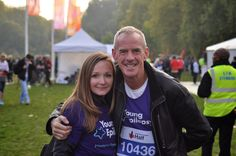 Fatboy Slim with one of our runners.