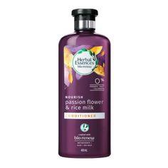 Shampoo Herbal Essences bío renew strength vitamin E & cocoa butter 400 ml Shampoo Herbal Essences, Rice Milk, Passion Flower, Cocoa Butter, Vitamin E, Herbalism, Beauty Products, Strength, Conditioner
