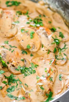 Skillet Chicken in White Wine Sauce with Mushrooms Recipe