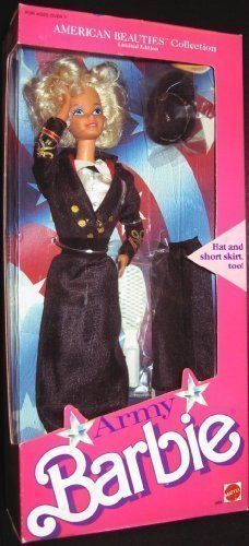 1989 Limited Edition ARMY BARBIE American Beauties Collection Fashion Doll (1989 Mattel) #Barbie