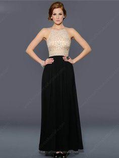 A-line Chiffon Jewel Beading Ankle-length Formal Dresses -AUD$173.49