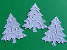 30 White Swirl Christmas Tree Evergreen Die by SewPrettyInVermont, $3.95