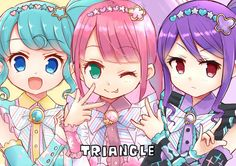 Triangle( it amazed me to find out that triangle really was)but IS FROM PRIPARA How To Find Out, Triangle, Pretty, Anime, Girls, Daughters, Anime Shows
