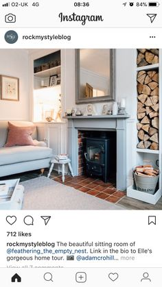 Fireplace cottage living rooms, living room kitchen, cottage interiors, home living room, Open Plan Kitchen Living Room, Tiny Living Rooms, Cottage Living Rooms, Home Living Room, Living Room Decor, Cottage Interiors, Room Kitchen, Fireplace Remodel, New Homes
