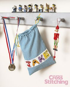 Crazy monsters! Cross stitch alphabet patterns by The World of Cross Stitching, issue215, created by Jenny Barton