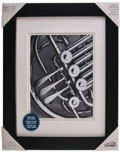 Pinnacle 11-inch-by-14-inch Gallery Solutions Frame, Matted to 8-inch-by-10-inch, Black,