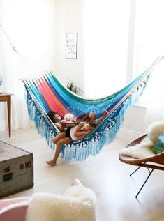 The Indoor Hammock Is the Greatest Thing to Happen to Lazy Days via @PureWow