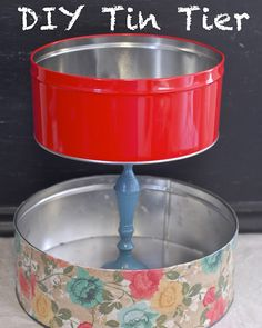 Tin can tier-never would have thought of this... For serving a bunch of cookies??
