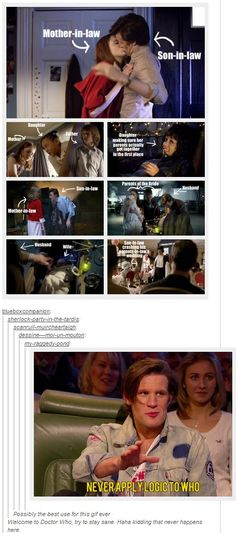 Never apply logic to Doctor Who. REPINNING just cause