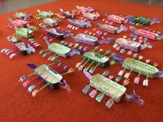 Happy Duanwu Festival! A wonderful mom in Hong Kong shared this image of dragon boats made with her son's class from my book! They had a big celebration and raced the boats! Thank you, Lynn!