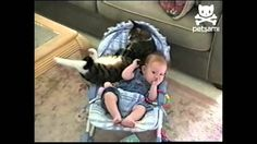 Cat Comforts Baby And Their Bond Is Amazing! - http://www.catnipdaily.com/cat-comforts-baby-and-their-bond-is-amazing/