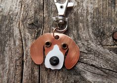 Keychain ID Key Chain Tag Beagle Snoopy Dog Breed Dog Pet Lover Copper Aluminum Custom Rivets Stamped