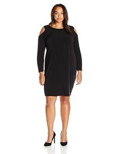 """Product review for Calvin Klein Women's Plus Size Cold Shoulder Dress.  - Long sleeved cold shoulder dress with faux leather trim detail       Famous Words of Inspiration...""""We waste time looking for the perfect lover, instead of creating the perfect love.""""   Tom Robbins — Click here for more from Tom..."""