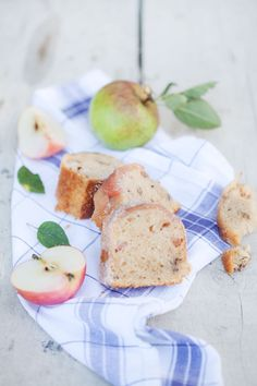 Apple, Walnut, Yogurt, Olive Oil Cake:: Cannelle et Vanille