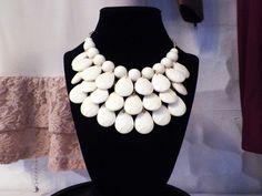 White Tear Drop Necklace $23.95