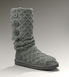 Charcoal ugg's...another cool weather dream list ;) UGG® Lattice Cardy for Women | Merino Wool Sweater Boots at UGGAustralia.com