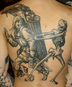totentanz, danse macabre skeleton engraving type tattoo - brian kelley