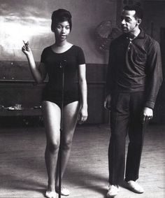 """Photo of Motown choreographer Cholly Atkins with 19-year-old Aretha Franklin? """"Charles Sylvan """"Cholly"""" Atkins, dancer and choreographer, was born September 13, 1913 in Pratt City, Alabama. He served in the United States Army Band from 1943 to 1945 during World War II. He first gained fame as half of the tap dancing duo Coles and Atkins. They appeared in the 1949 movie """"Gentleman Prefer Blondes."""" In the late 1950s, Atkins began to choreograph steps for various vocal groups."""