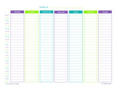 day planner printable | free printable, weekly planner, half hour increments, schedule ...