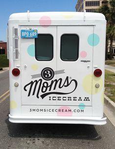 3 Moms IceCream -Truck Design by Funnel aka Eric Kass - Backside
