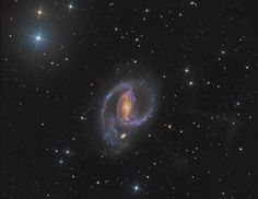 Spiral galaxy NGC 1097is located about 45 million light-years from Earth appearing in thesouthern hemisphere constellation Fornax. A Seyfert galaxy, the nucleus of NGC 1097 harbors a supermassive black hole.