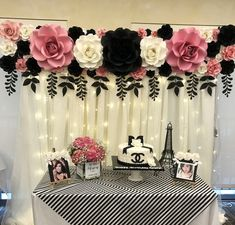 Wedding decorations diy backdrop baby shower 49 Ideas for 2019 Diy Wedding Decorations, Birthday Party Decorations, Wedding Ideas, Paris Party Decorations, Birthday Backdrop, Trendy Wedding, Table Decorations, Party Kulissen, Party Ideas