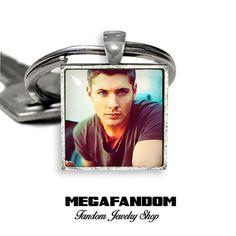 Dean Winchester Keyring Keyfob Supernatural Square Keychain Gift for Him Gift for Her Jensen Ackles Supernatural Accessories