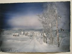 The Island of the Voices: Art Exhibition - Lars Lerin (3) - Winter