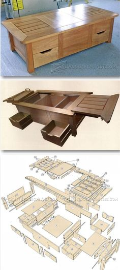 Coffee Table Plans - Furniture Plans and Projects - Woodwork, Woodworking, Woodworking Tips, Woodworking Techniques Farmhouse Table Plans, Coffee Table Plans, Farmhouse Cabinets, Coffee Tables, Woodworking Furniture Plans, Easy Woodworking Projects, Popular Woodworking, Teds Woodworking, Woodworking Classes
