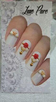 Nail Jewels, Manicure, Nails, Nail Art, Pure Products, Beauty, Art Nails, Glass Design, Gold Glitter